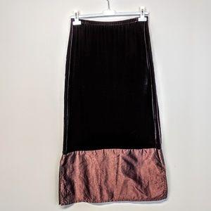 Margaret O'Leary Velvet Skirt
